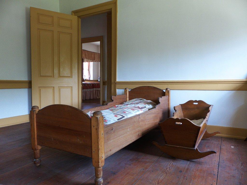 A second floor bedroom.