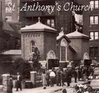 The Original St. Anthony's Church, Used Before the Flood of the Connecticut River