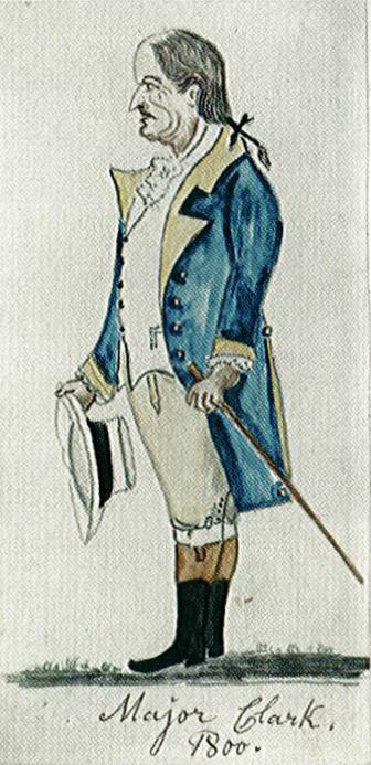 Sketch of Major John Clark by Lewis Miller.