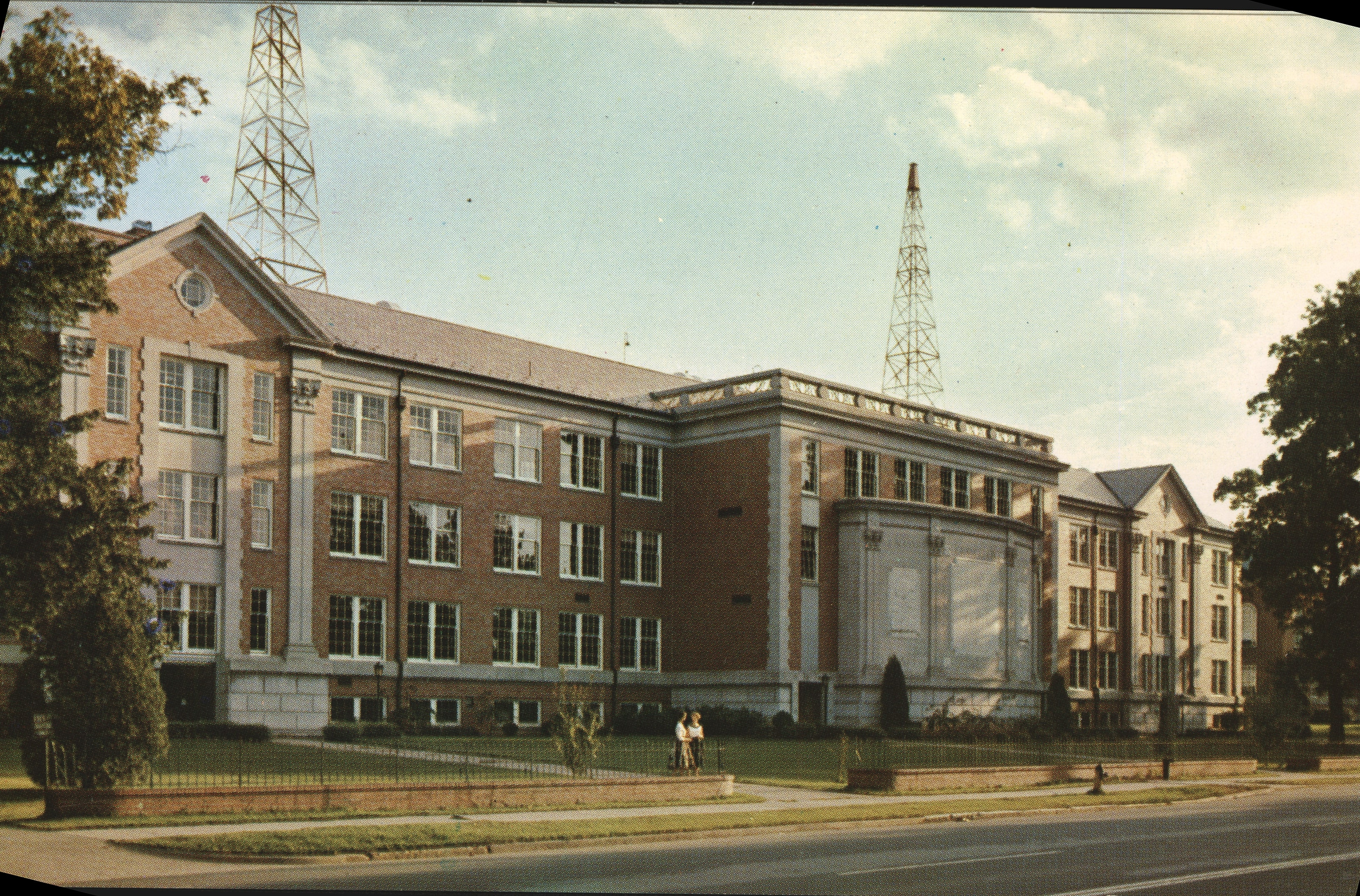 Postcard of the Science Building, north side, in 1960.