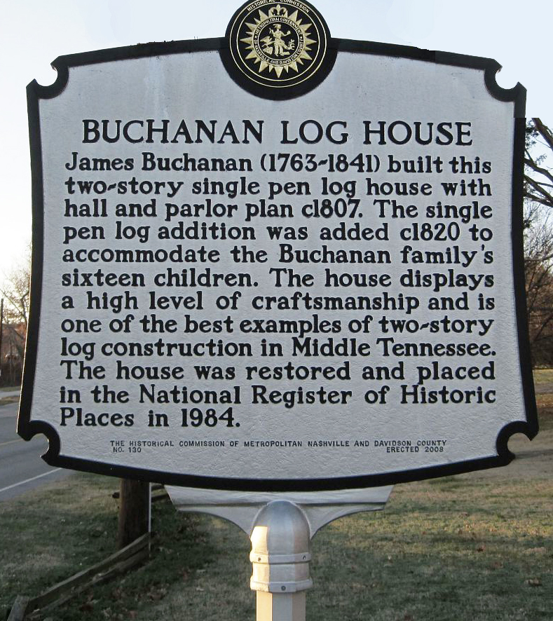Sign for the Buchanan House