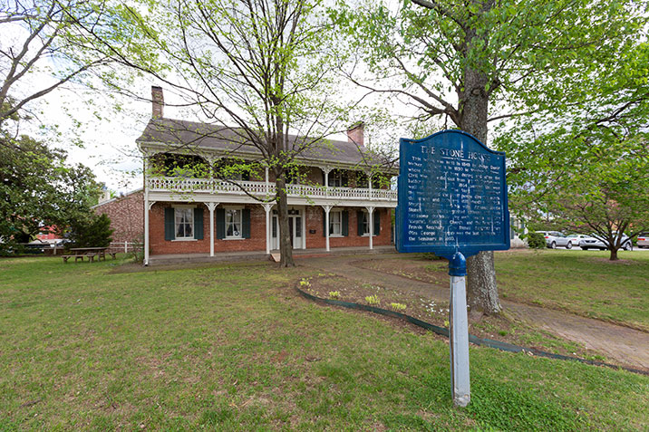 This home was constructed for attorney David Walker who became one of the first justices in the Arkansas Supreme Court.