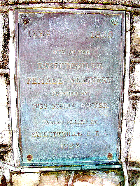This historical marker can be found on the north side of West Mountain Street near the intersection with Locust Ave