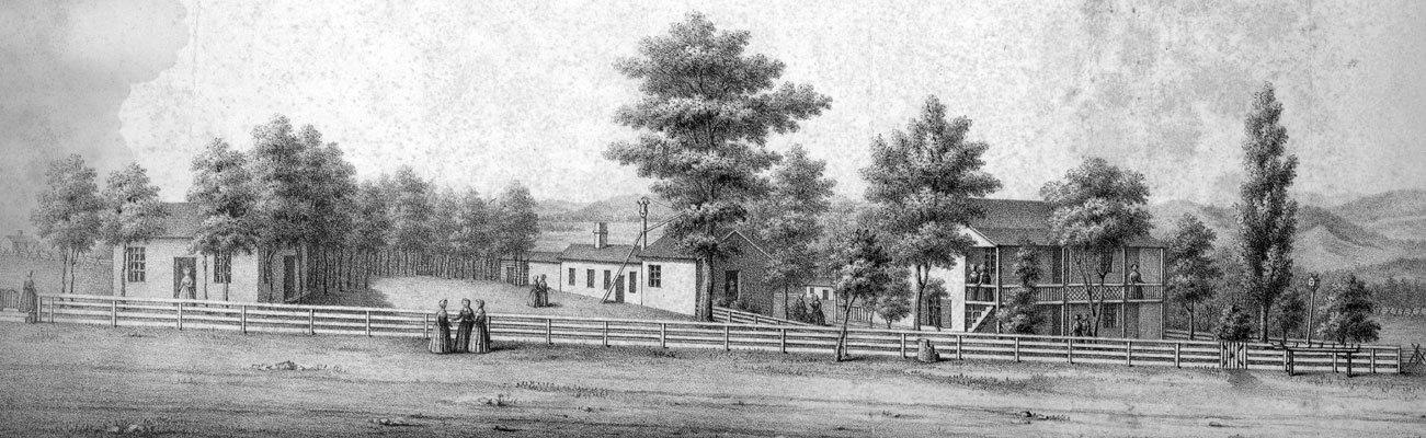 Fayetteville Female Seminary circa 1852