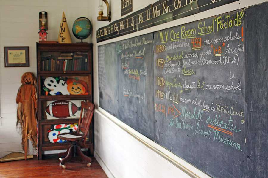 The museum's blackboard in 2016