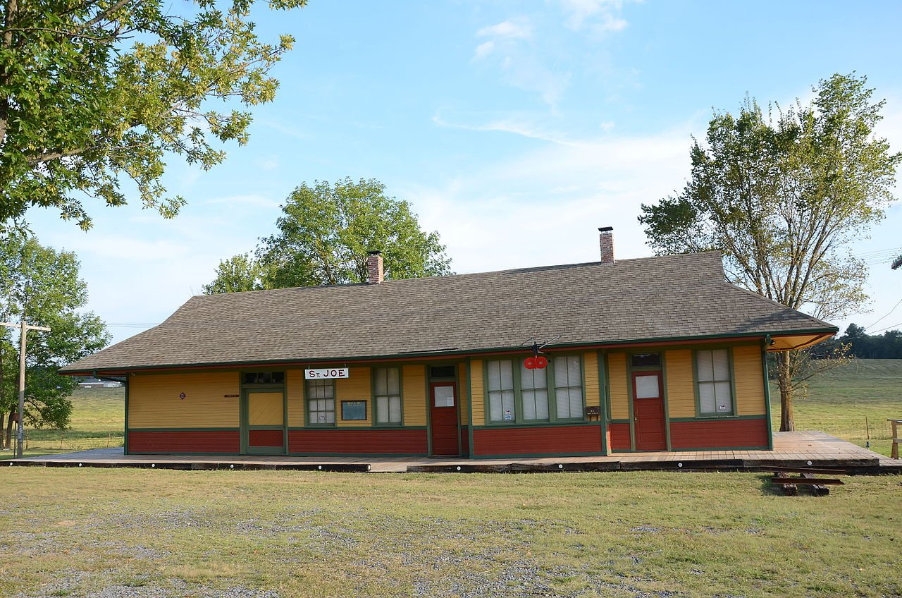 The St. Joe Depot was built in 1912. It is the only depot in the county on its original location.