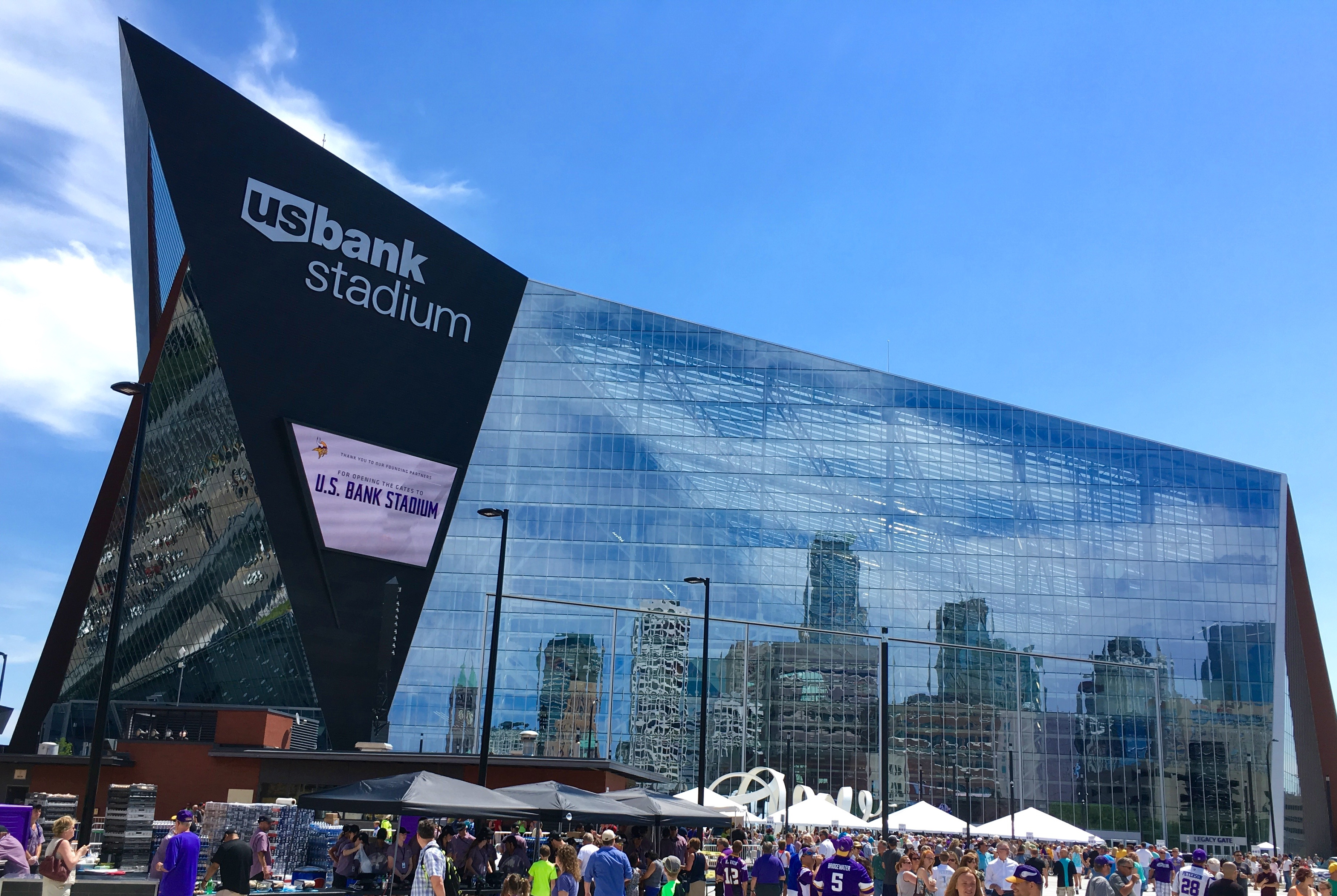 Outside view of US Bank Stadium