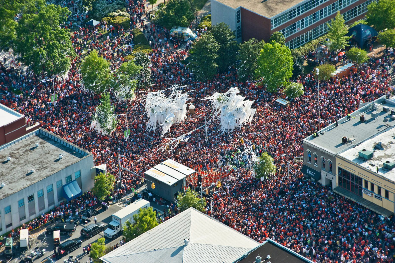 This is Toomer's Corner after an Auburn win.