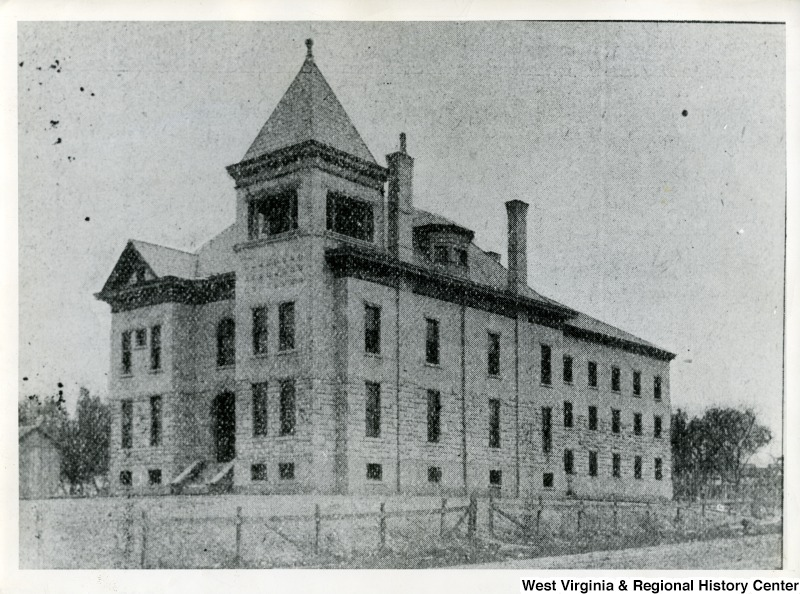 Cabell County Jail, built in 1895. the jail was located where the present courthouse stands.