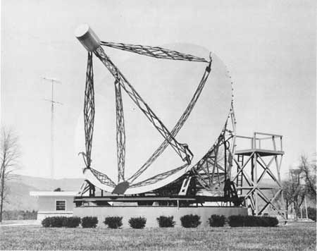 Old picture of Grote Reber Telescope