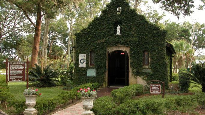 Shrine of Our Lady of La Leche. Credit: Mission Nombre de Dios