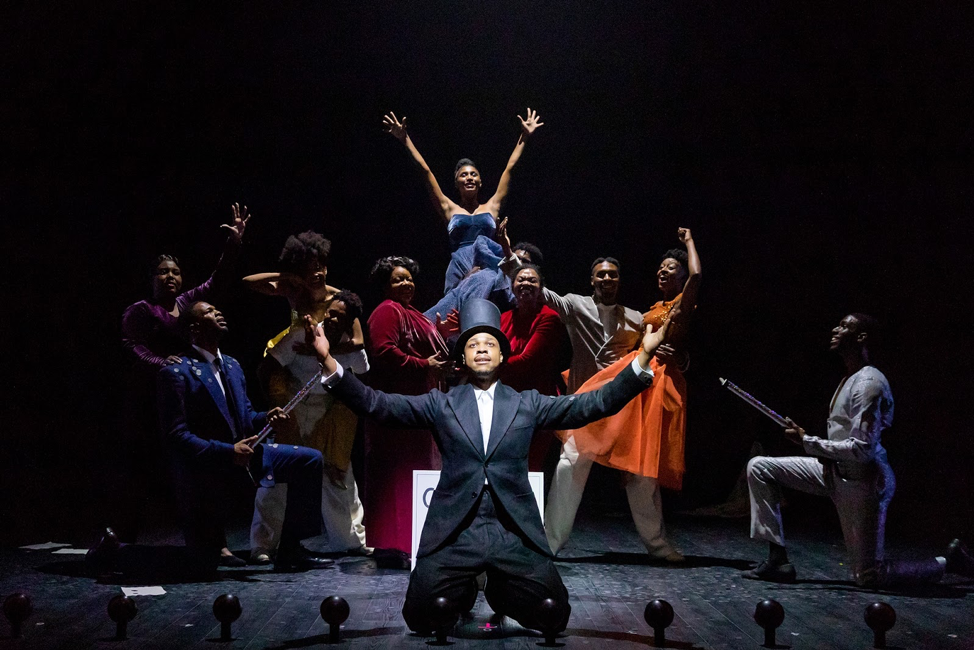 "This photo from 2018 features the cast of ""The Black Clown"" performing inside of Oberon Theater. (By Maggie Hall [https://americanrepertorytheater.org/explore/], from A.R.T.'s official website.)"