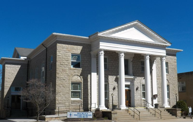 The current sanctuary was built in 1923 to accommodate the church's growing membership. Image obtained from the Beckley Presbyterian Church.