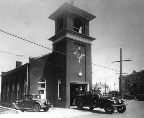 The original sanctuary was later sold to the City of Beckley and used for different purposes, such as a fire department. Image obtained from the Beckley Presbyterian Church.