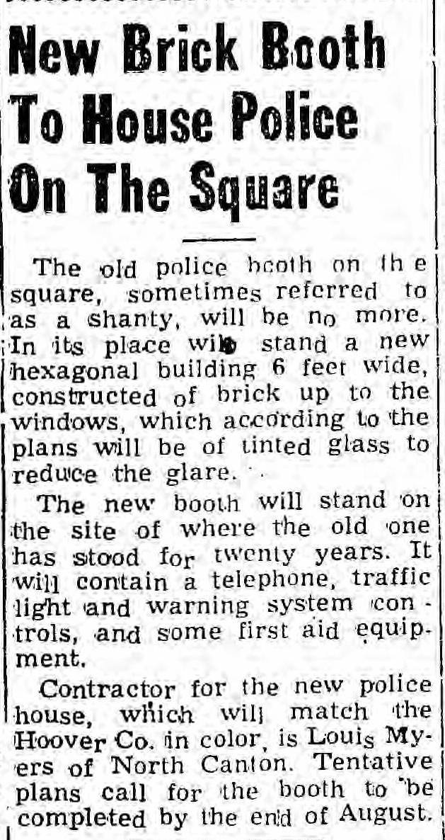 A brief article in The Sun mentions the construction of a new hexagonal police booth, which still stands today.