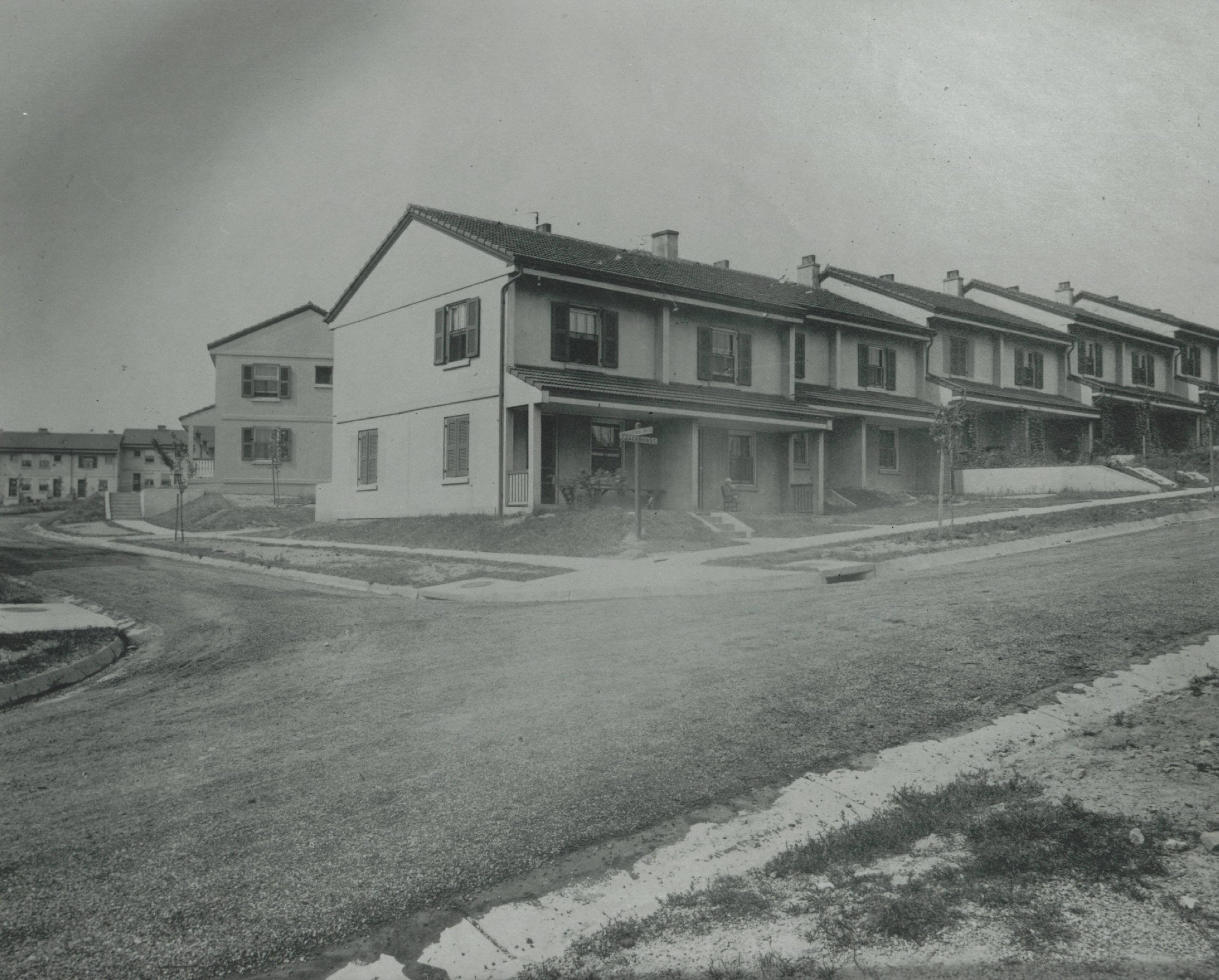 "Housing in the Blackburn Plat was created for ""foreign-born"" and African American workers. (Source: Ohio Memory)"