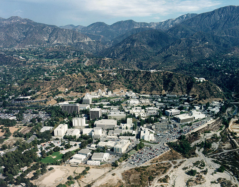 Aerial Photo of Jet Propulsion Laboratory. Photo Courtesy of NASA JPL in public domain.