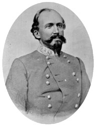 General John Hunt Morgan who lead the Confederate soldiers.