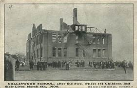 Newspaper article from the school fire.