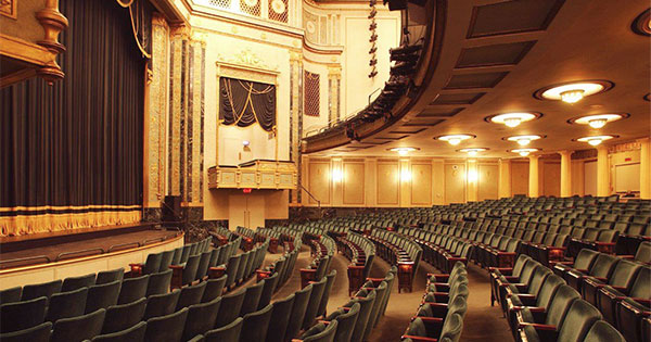 Inside the Victoria Theatre auditorium.
