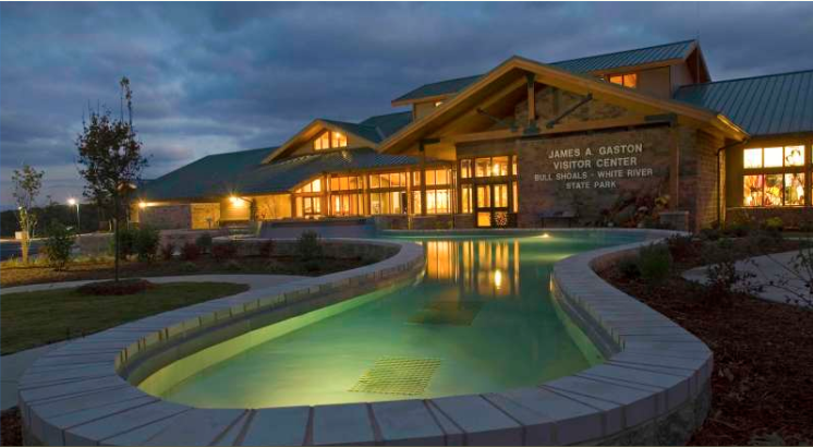 The James A. Gaston Visitor Center features exhibits that explore the history of the surrounding region.