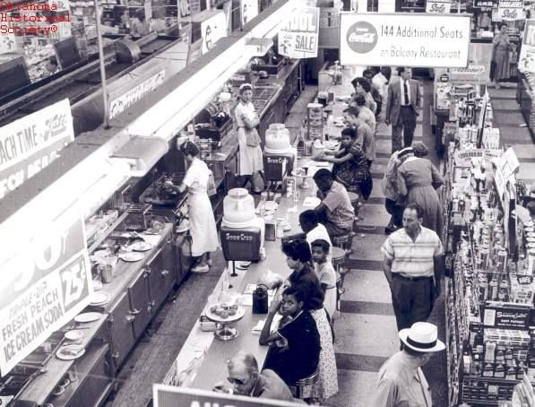 The sit-in began on August 28, 1958, at Katz Drug Store in Oklahoma City and ended when the store manager agreed to serve all patrons at the counter.