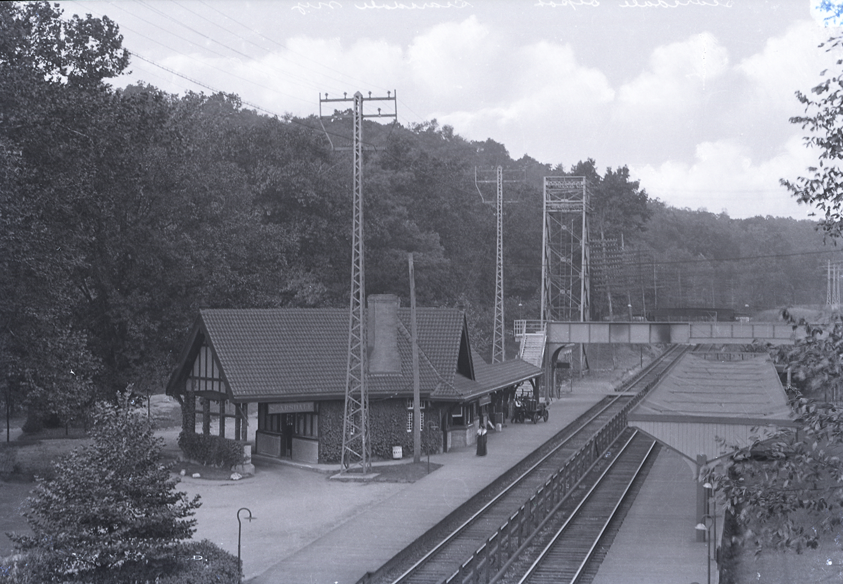 Scarsdale Railroad Station in the early 20th century.