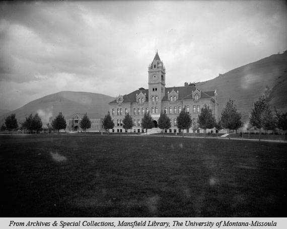 Although the campus has evolved, University Hall remains much the same. Ca. 1905.