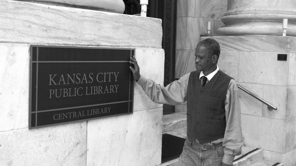 Alvin Sykes can often be found in the Grand Reading Room of the Kansas City Public Library.  In 2013, he was named their first ever Scholar in Residence.