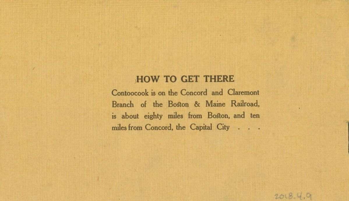 Mt. Lookout House advertising brochure highlighting the easy accessibility by rail.