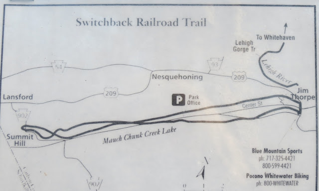 Map showing the figure eight shape of the Switchback Railroad