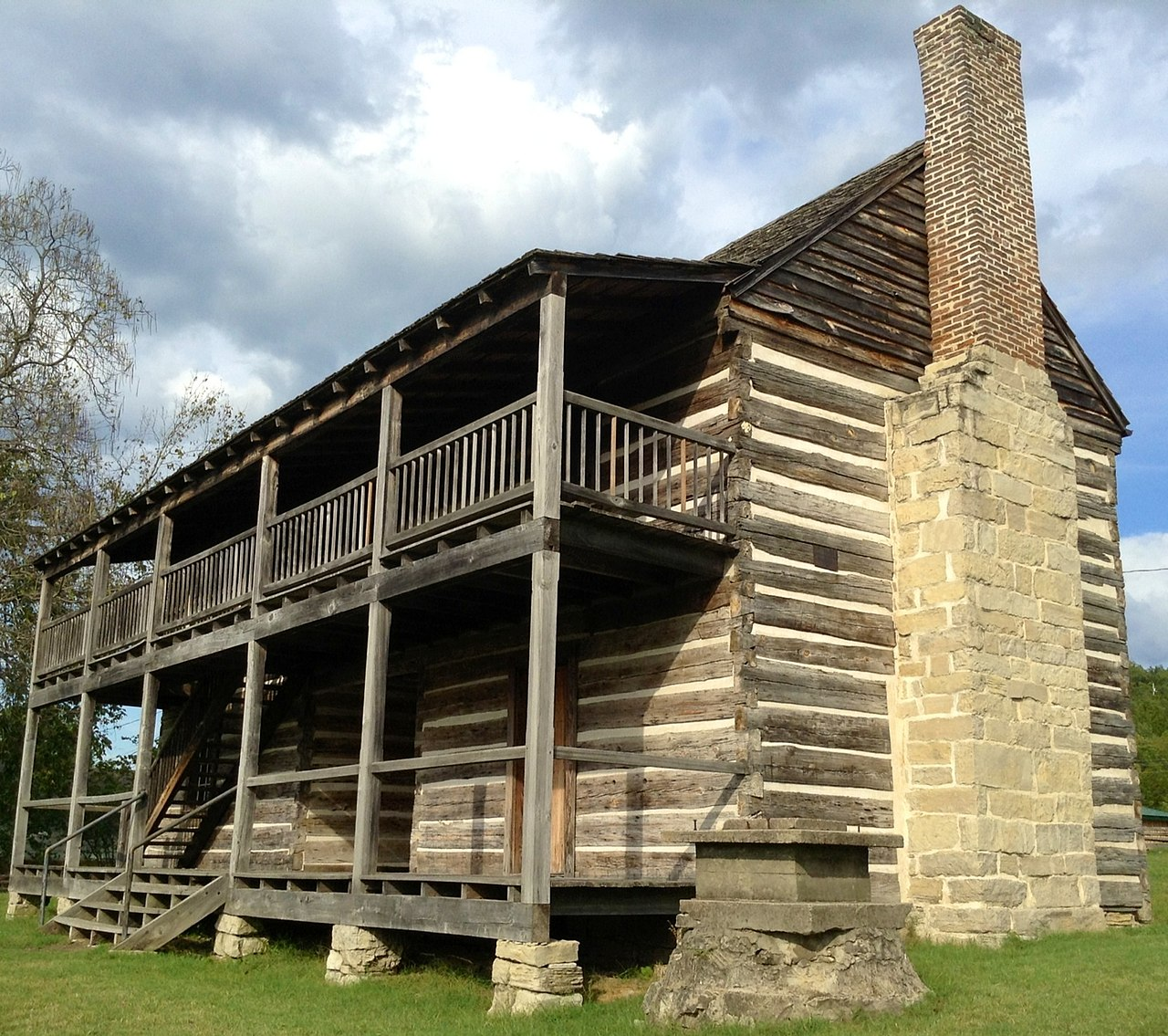 "The Jacob Wolf House is one of the more significant buildings in Arkansas. It was Izard County's first seat of government and the country's only two-story ""dog-trot"" public structure still standing."