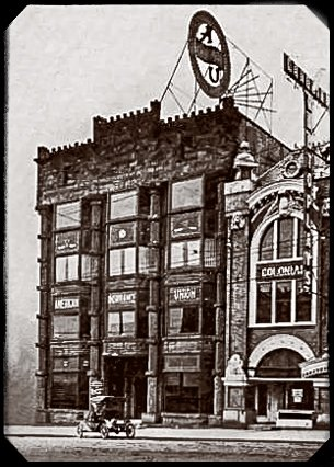 The original American Insurance Union building. The AIU was incorporated by businessman and politician John J. Lentz.