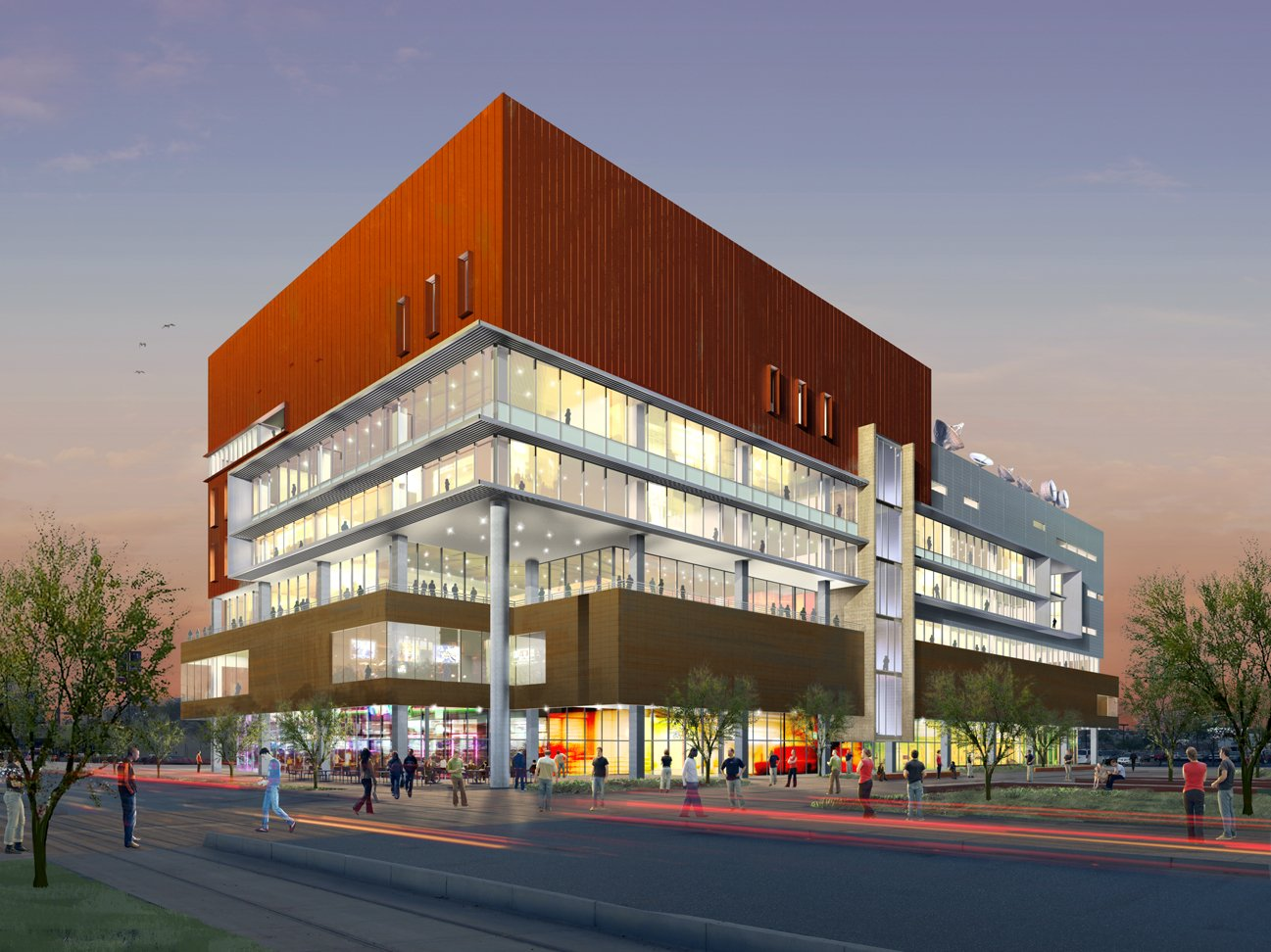 Concept design for the building before it finished construction in 2008.