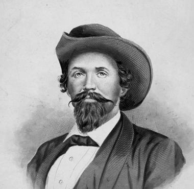 "A photo of John Hunt Morgan. ""Thunderbolt of the Confederacy"" and a nuisance for the Union along the Cumberland."