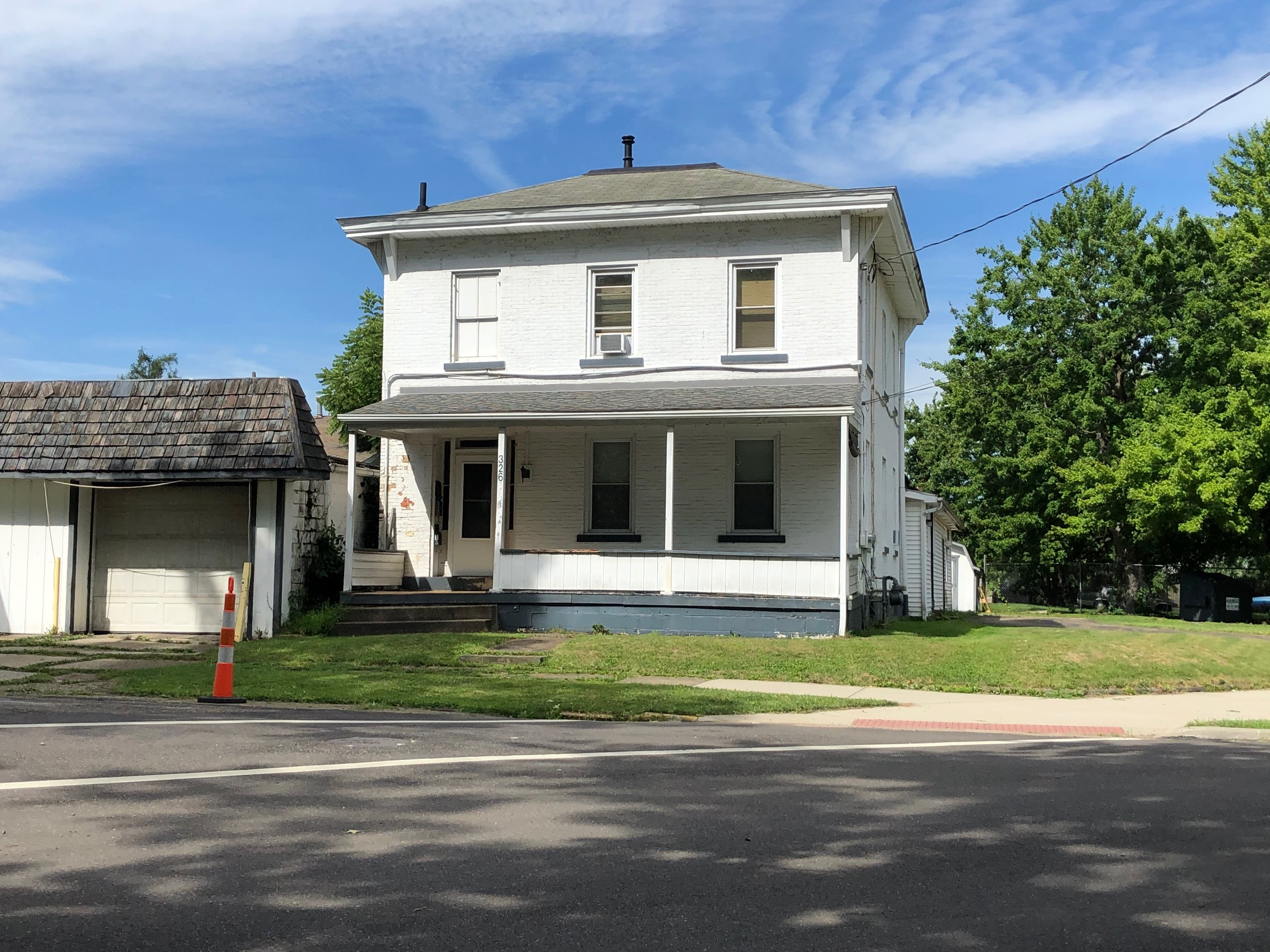 The residence of Mathias Hester, today, on the southwest corner of N. Mechanic Avenue and Hester Avenue