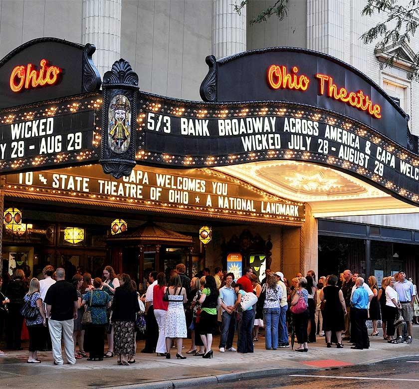 The Ohio Theatre marquee.