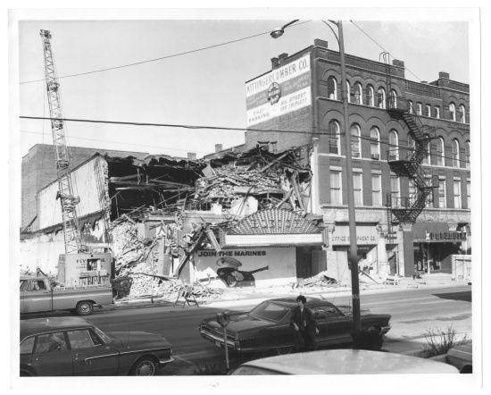 Demolition of Bleich Theatre next to the Empress, March 1966
