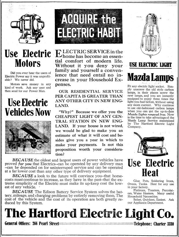 A News Clipping Featuring Some of the Offerings of Products from HELCO, Sourced from the UCONN Archives