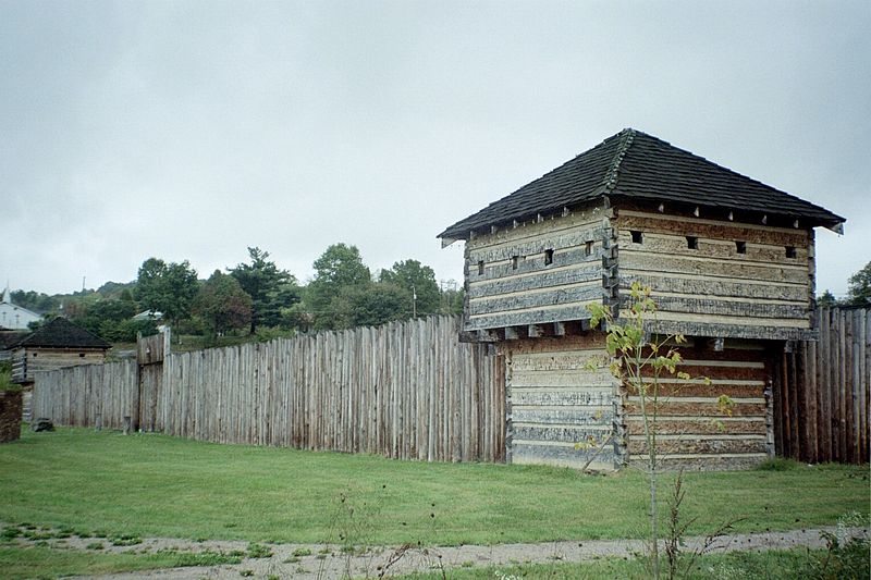 Reconstruction of Fort Randolph in Point Pleasant, West Virginia