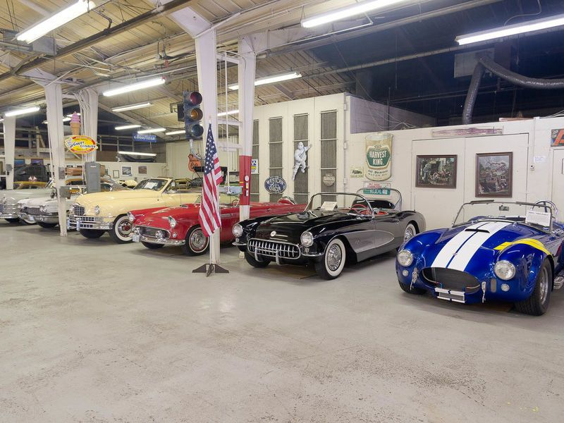 The museum houses nearly 70 old cars including a Batmobile.