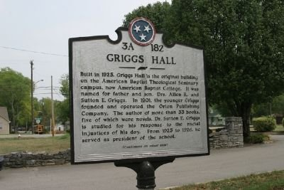 The Griggs Hall Historical Marker
