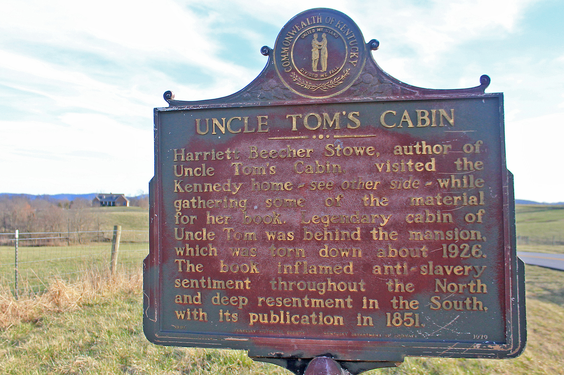 Uncle Tom's Cabin Marker in Paint Lick, Kentucky