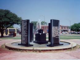 The monuments at the Charlese Sherrod Civil Rights Park.