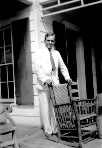 Dr. Arthur Shade Jones at his house, circa 1930s