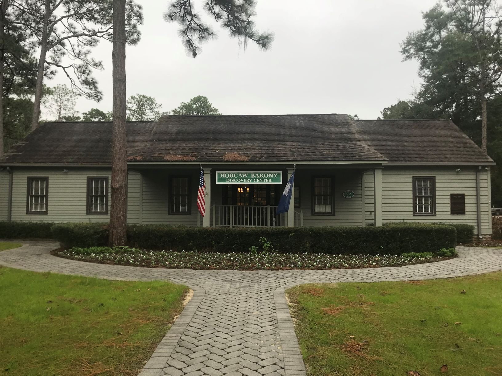 The Discovery Center is the first building visitors will encounter on the plantation.