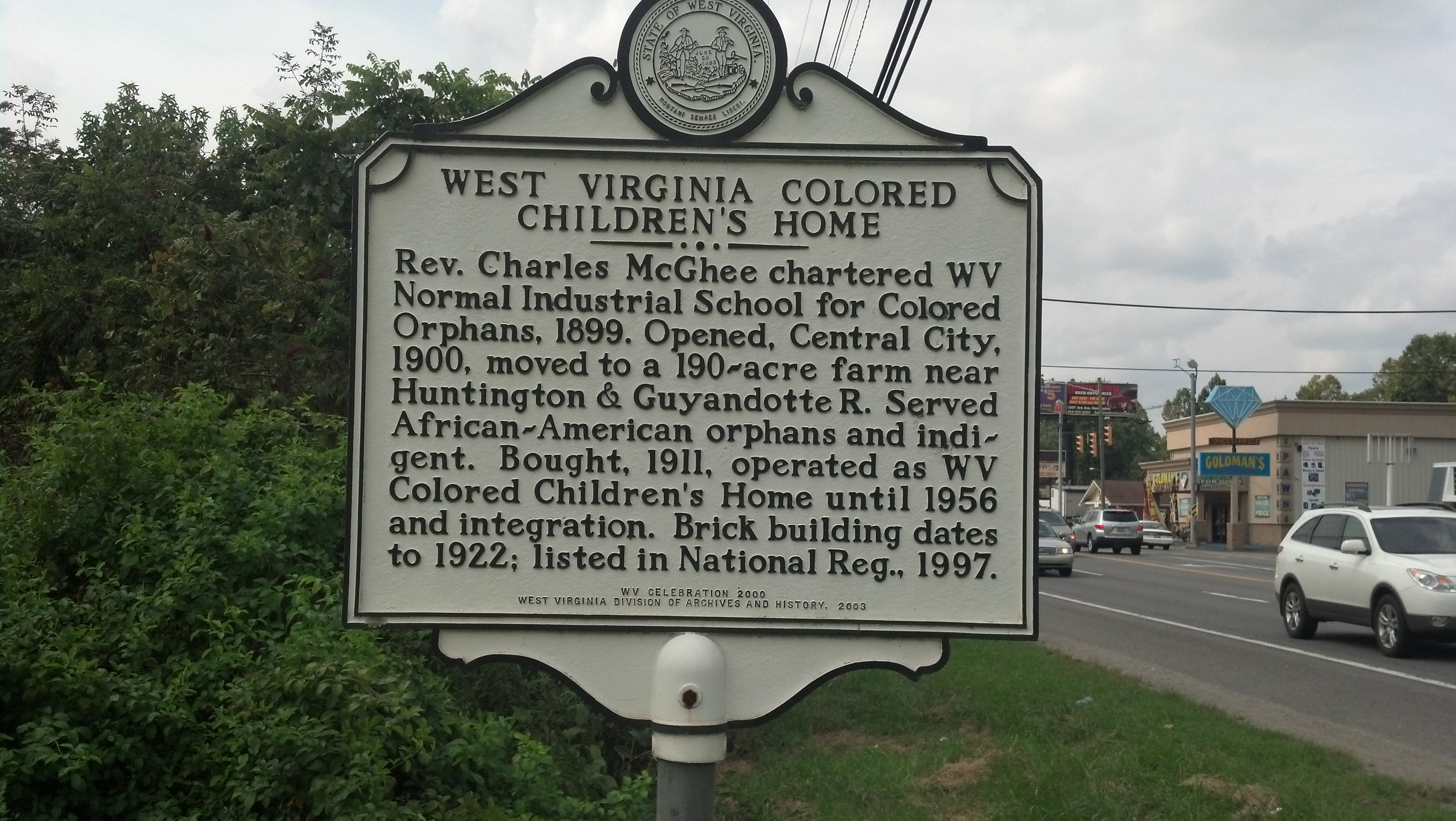 W.V. Colored Children's Home Historic Marker