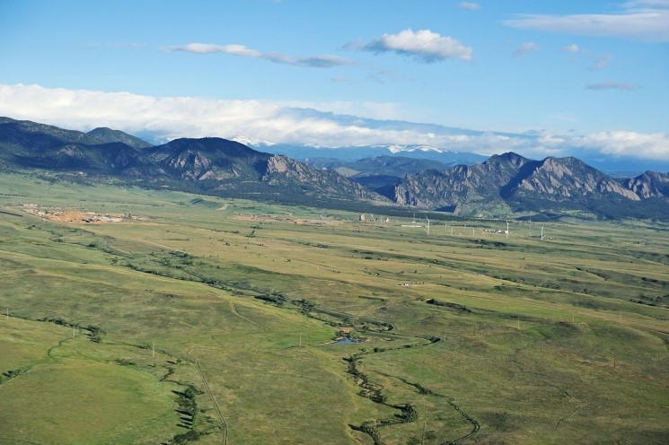 A 2012 aerial view of Rocky Flats National Wildlife Refuge.