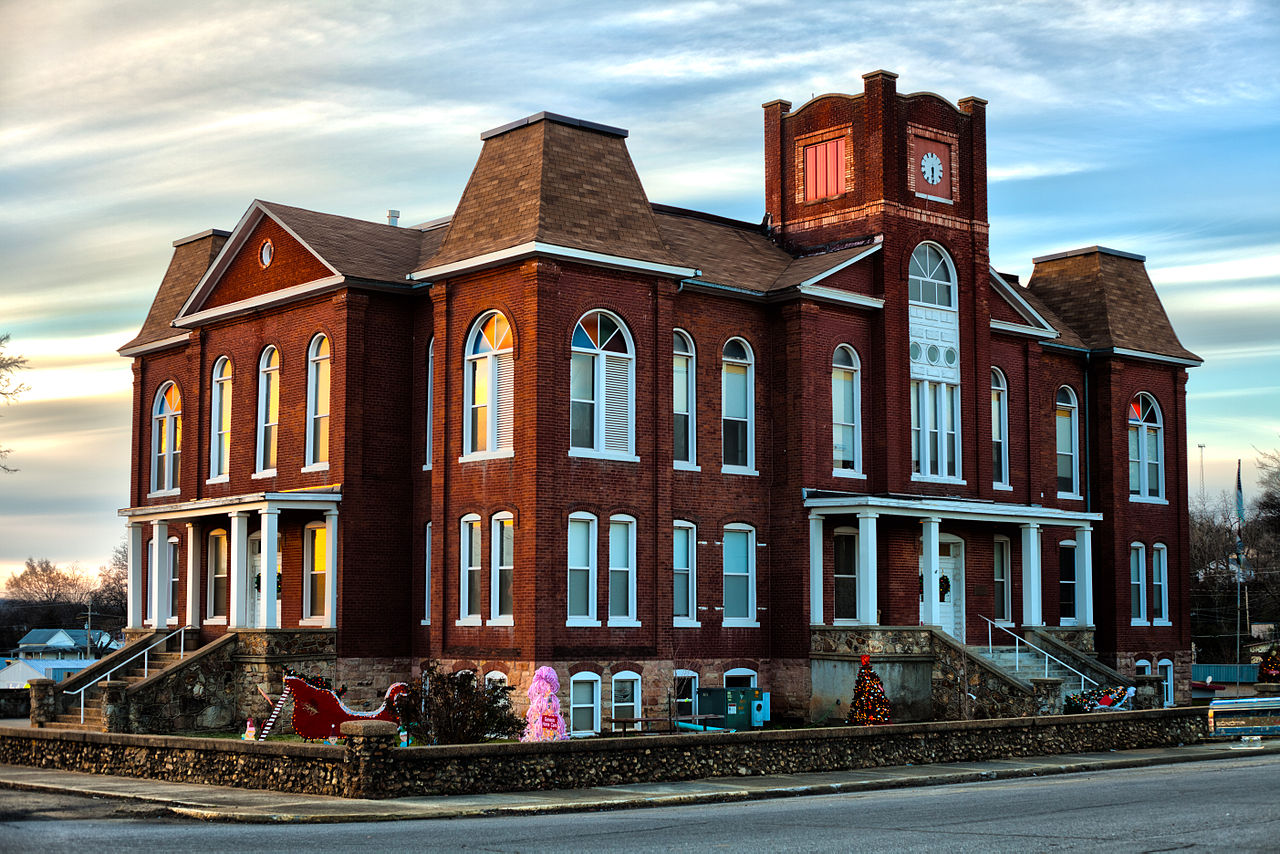 Ripley County Courthouse was built in 1899, replacing the previous courthouse destroyed by a fire.