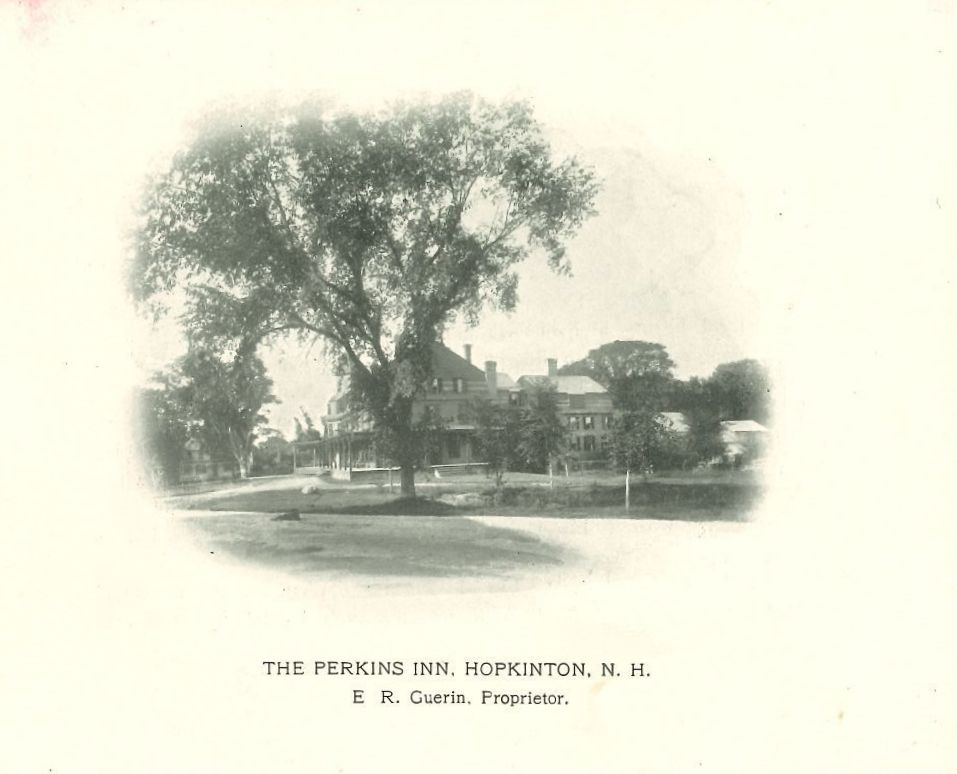 Cover of Perkins Inn advertising brochure with image of the inn.